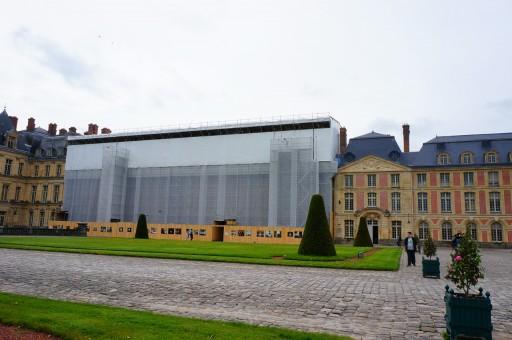 改修中の宮殿部分
