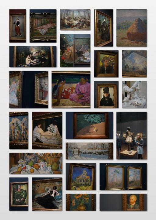 オルセー館内の美術品
