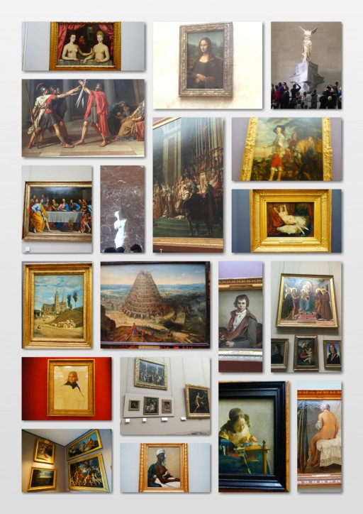 ルーブル館内の美術品